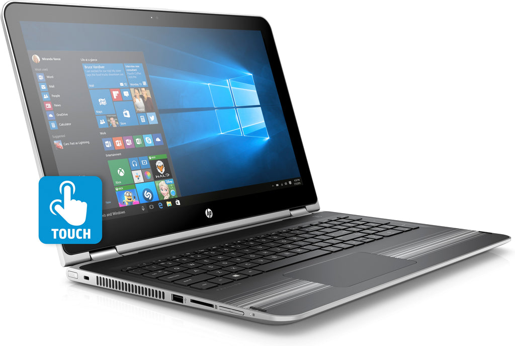"HP Pavilion X360 15-BK168CL 15.6"" HD Touch  Intel Core:I3 2.40GLV 8GB RAM 1TB SATA Windows 10 Home 4DY23UA#ABA"
