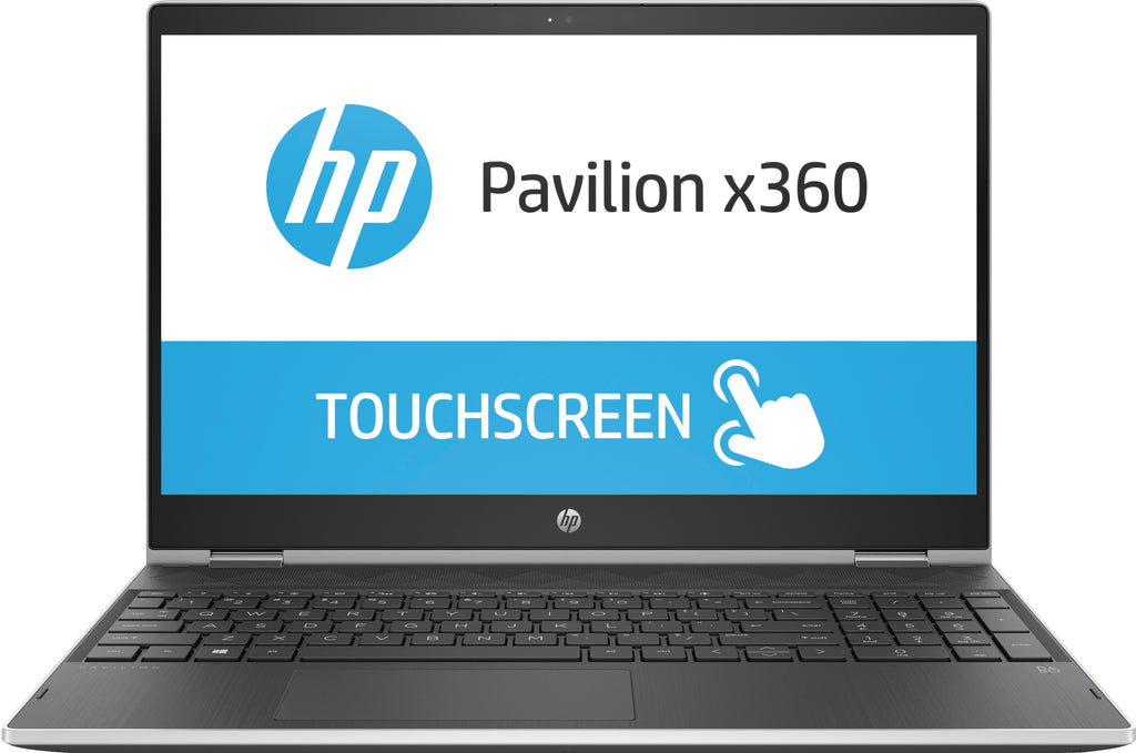 "HP Pavilion x360 15-cr0017nr 15.6"" FHD (Touchscreen) Convertible Notebook, Intel Core i5-8250U, 1.60GHz, 8 GB RAM, 256 GB SSD, Windows 10 Home 64-Bit - 4EY66UA#ABA"