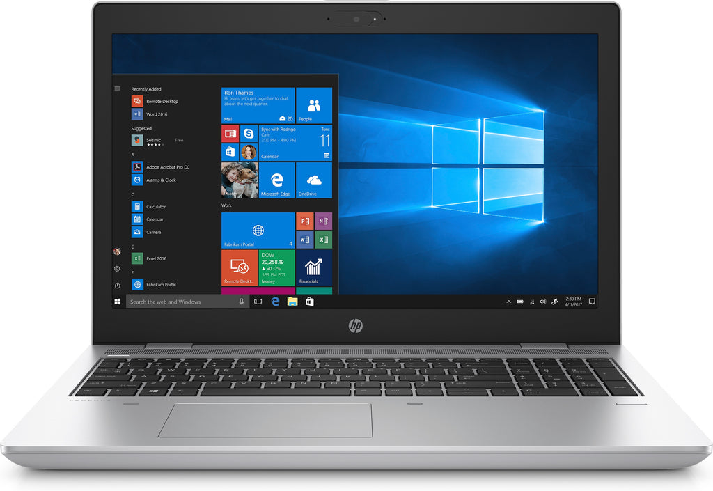 "HP ProBook 650-G4 15.6"" HD (Non-Touch) Notebook PC, Intel Core i5-7200U, 2.50GHz, 8GB RAM, 500GB HDD, Windows 10 Pro 64-Bit - 7VE73U8#ABA"