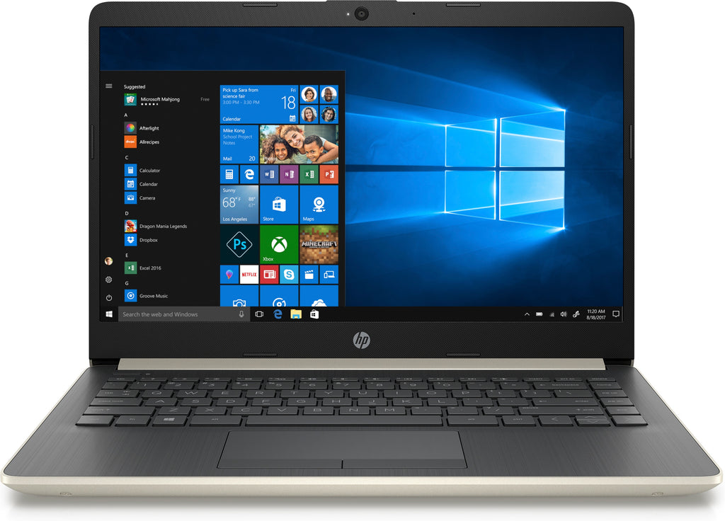 "HP 14-cf0011ds LCD Notebook 14"" HD Intel Celeron N4000 4GB RAM 64GB SSD Windows 10 Home-64 Bit 4HY61UA#ABA"