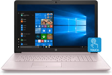 "HP 17-ca0010ds 17.3"" HD+ (Touchscreen) Notebook, AMD:R3-2300U, 2.0GHz, 8GB RAM, 1TB HDD, Windows 10 Home 64-Bit- 5HG69UA#ABA"