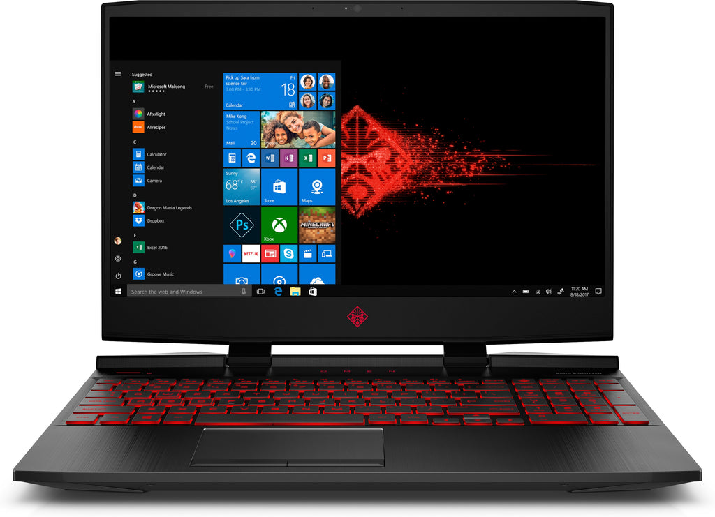 "HP OMEN 15-dc0011nr 15.6"" Full HD (Non-Touch) Gaming Laptop, Intel:i5-8300H, 2.30GHz, 8GB RAM, 1TB HDD + 16GB Optane, Windows 10 Home 64-Bit - 5JP88UA#ABA (Certified Refurbished)"