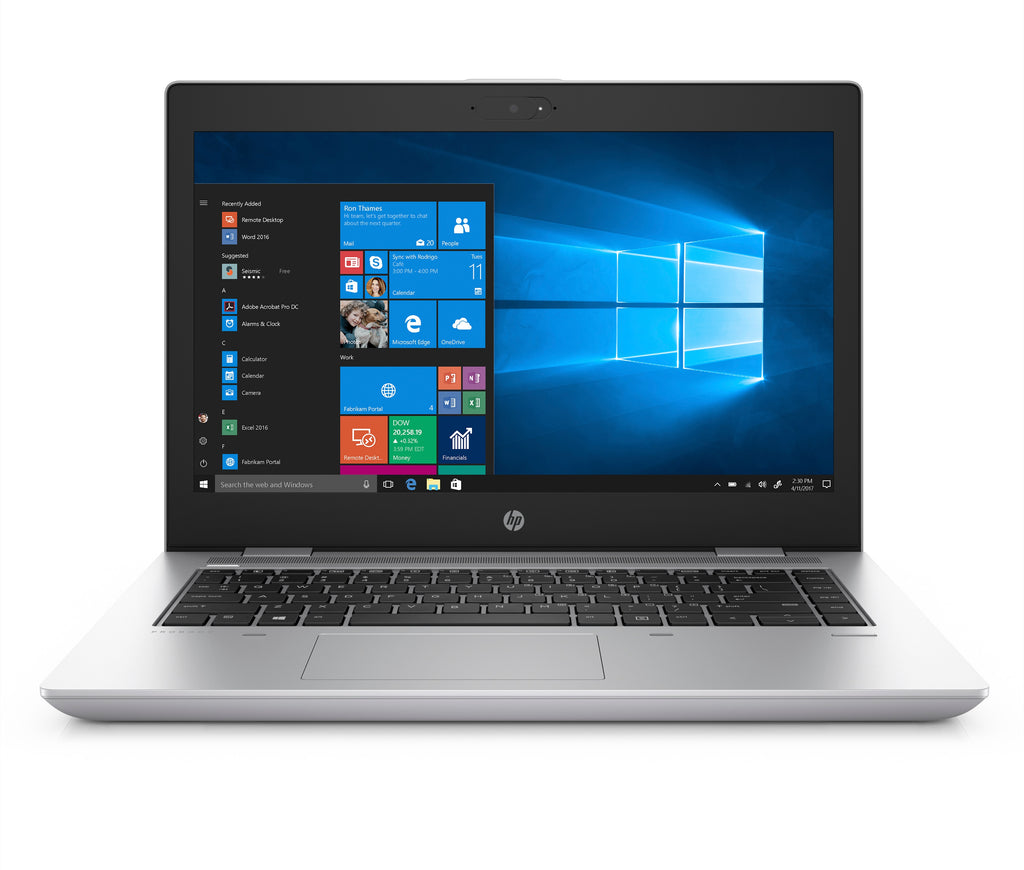 "HP ProBook 640-G4 14"" HD (Non-Touch) Notebook PC, Intel i3-8130U, 2.20GHz, 16GB RAM, 256GB SSD, Windows 10 Pro 64-Bit - 5YG39U8#ABA"