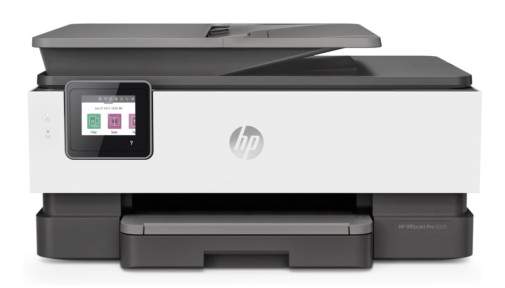 HP OfficeJet Pro 8035 All-in-One Color Inkjet Printer, 20 ppm Black, 10 ppm Color, 4800 x 1200 dpi, 256 MB Memory, WiFi, Ethernet, Duplex Printing - 5LJ23A#B1H