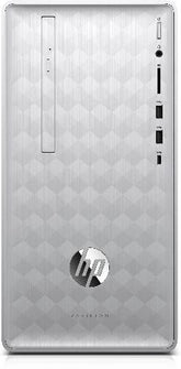 HP Pavilion 590-p0085z Mini Tower Desktop PC, AMD Ryzen 7-2700, 3.20GHz, 16GB RAM, 1TB HDD, 256GB SSD, Windows 10 Home 64-Bit - 3UQ68AA#ABA (Certified Refurbished)
