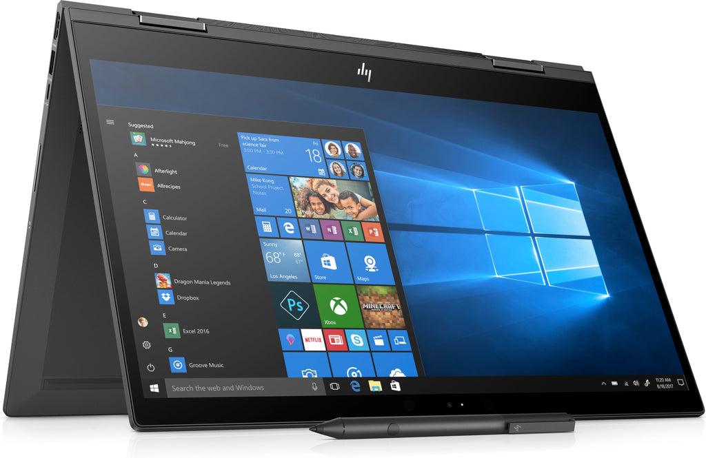 "HP ENVY X360 15-cp0053cl 15.6"" FHD (Touchscreen) Convertible Notebook, AMD:R5-2500U, 2.00GHz, 8 GB RAM, 256 GB SSD, Windows 10 Home 64-Bit - 6EH45UA#ABA (Certified Refurbished)"