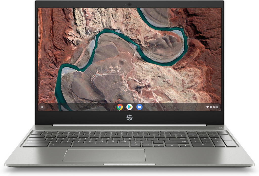 "HP 15-de0021cl 15.6"" Full HD (Touchscreen) Chromebook, Intel Core i3-8130U, 2.20GHz, 4GB RAM, 128GB eMMC, Chrome OS - 6MX43UA#ABA (Certified Refurbished)"