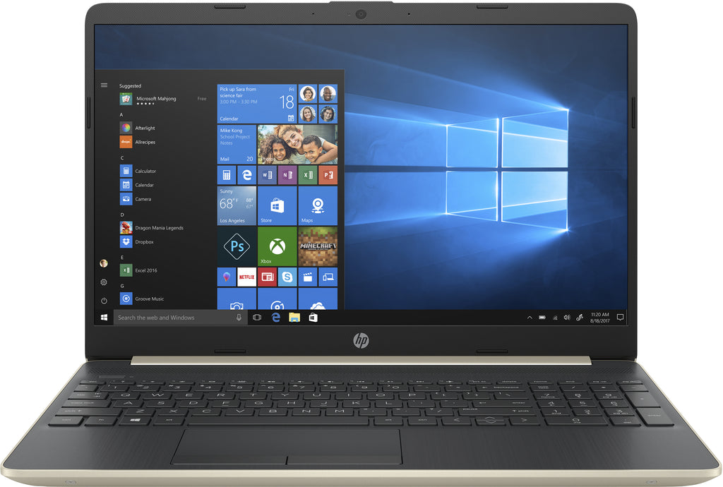 "HP 15-dw0052wm 15.6"" HD Notebook, Intel i5-8265U, 1.60GHz, 8GB RAM, 256GB SSD, Win10H - 6WC33UA#ABA"