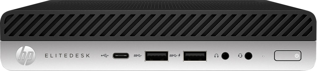 HP EliteDesk 800-G4 Mini Business PC, Intel Core i3-8300T, 3.20GHz, 8GB RAM, 500GB HDD, Windows 10 Pro 64-Bit - 6XN70U8#ABA
