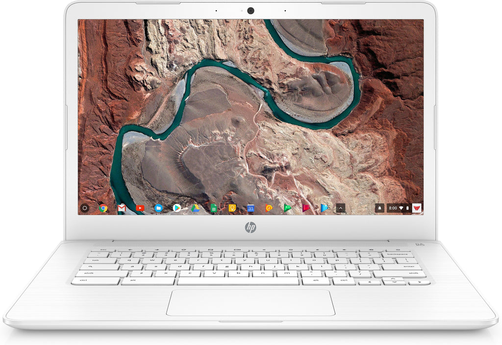 "HP 14-ca010nr 14"" HD (NonTouch) Chromebook, Intel Celeron N3350, 1.10GHz, 4GB RAM, 32GB eMMC, Chrome OS - 7ZV00UA#ABA"