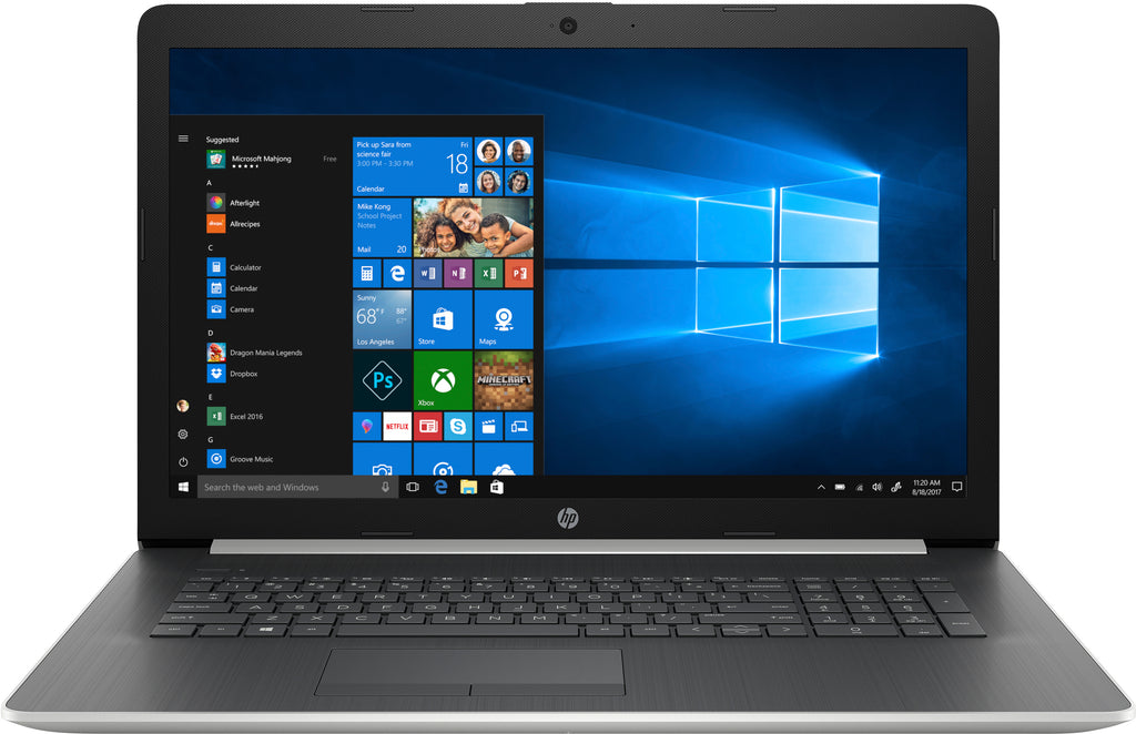 "HP 17-ca1065cl 17.3"" HD+ (Touchscreen) Notebook, AMD Ryzen 5-3500U, 2.10GHz, 12GB RAM, 1TB HDD, Windows 10 Home 64-Bit - 8AC92UA#ABA (Certified Refurbished)"