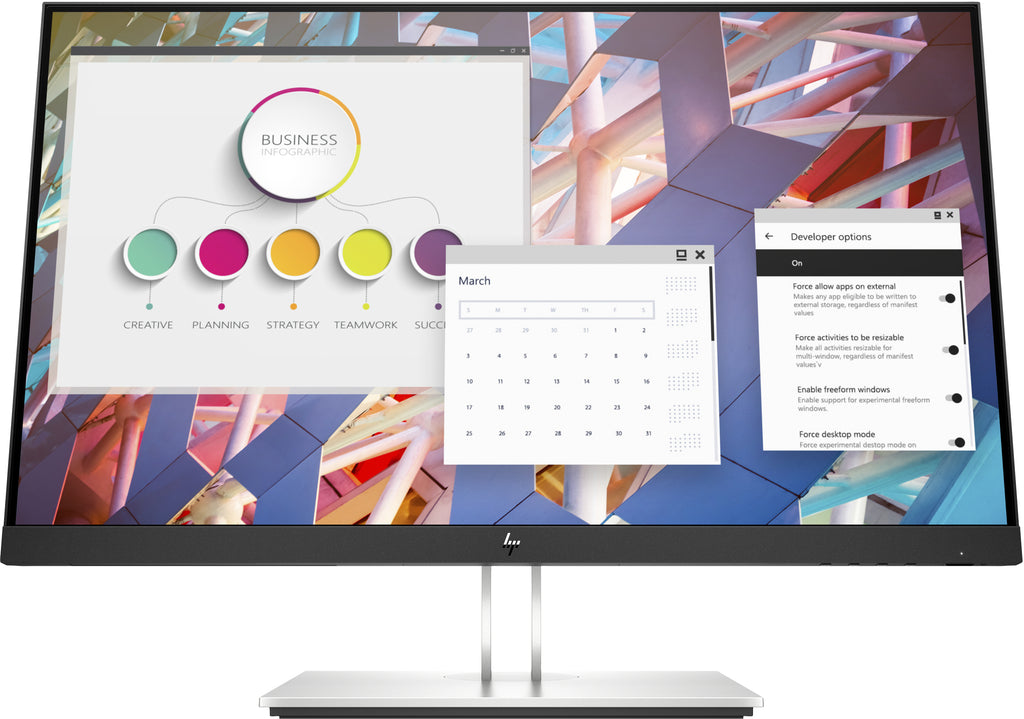 "HP E24 G4 23.8"" FHD LCD Monitor, 16:9, 5ms, 1000:1-Contrast - 9VF99AA#ABA"