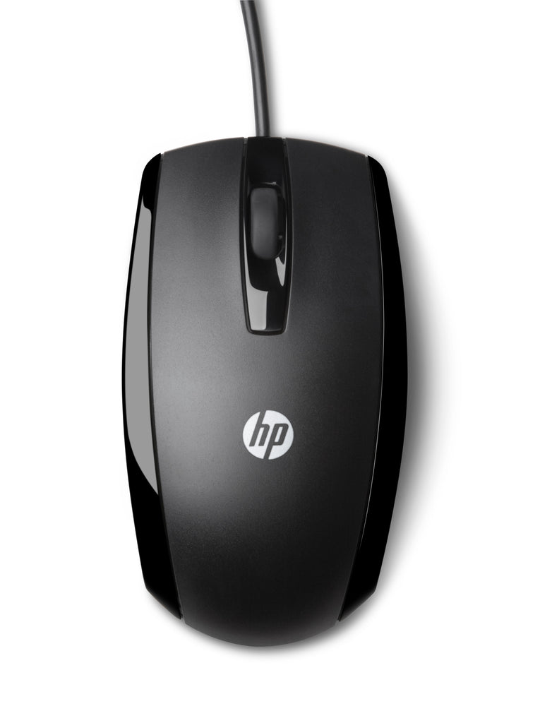 HP X500 Wired Optical Mouse, USB, 3 Buttons, Clickable Scroll Wheel, Black - E5E76AA#ABA