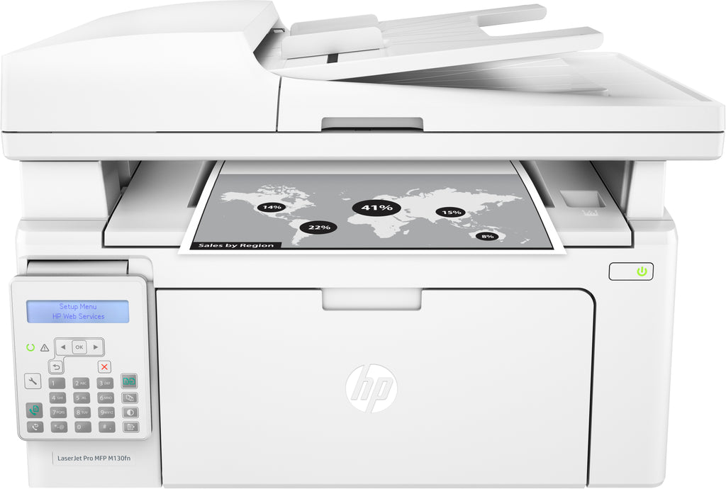HP LaserJet Pro M130fn Printer, All-in-One Monochrome Laser Printer, 256MB Memory, 23 PPM, USB - G3Q59A#BGJ (Certified Refurbished)