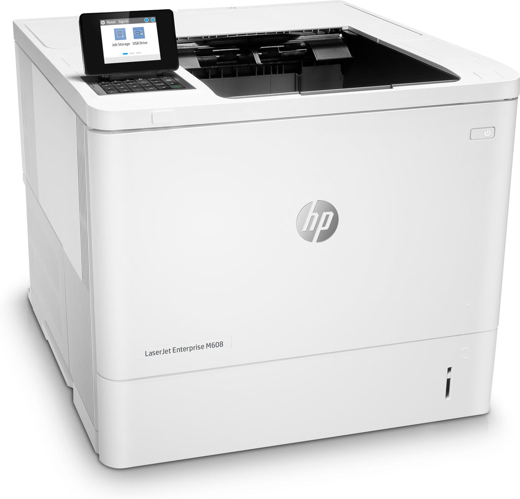 HP LaserJet Enterprise M608dn Monochrome Laser Printer, 61 ppm, 1200X1200 dpi, 512MB Memory, Ethernet, USB, Duplex Printing - K0Q18A#BGJ (Certified Refurbished)