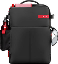 "HP OMEN 17.3"" Monotone Backpack, Carrying Case for Laptops, Padded Pockets, Top Handle, Shoulder Straps - K5Q03AA#ABL"