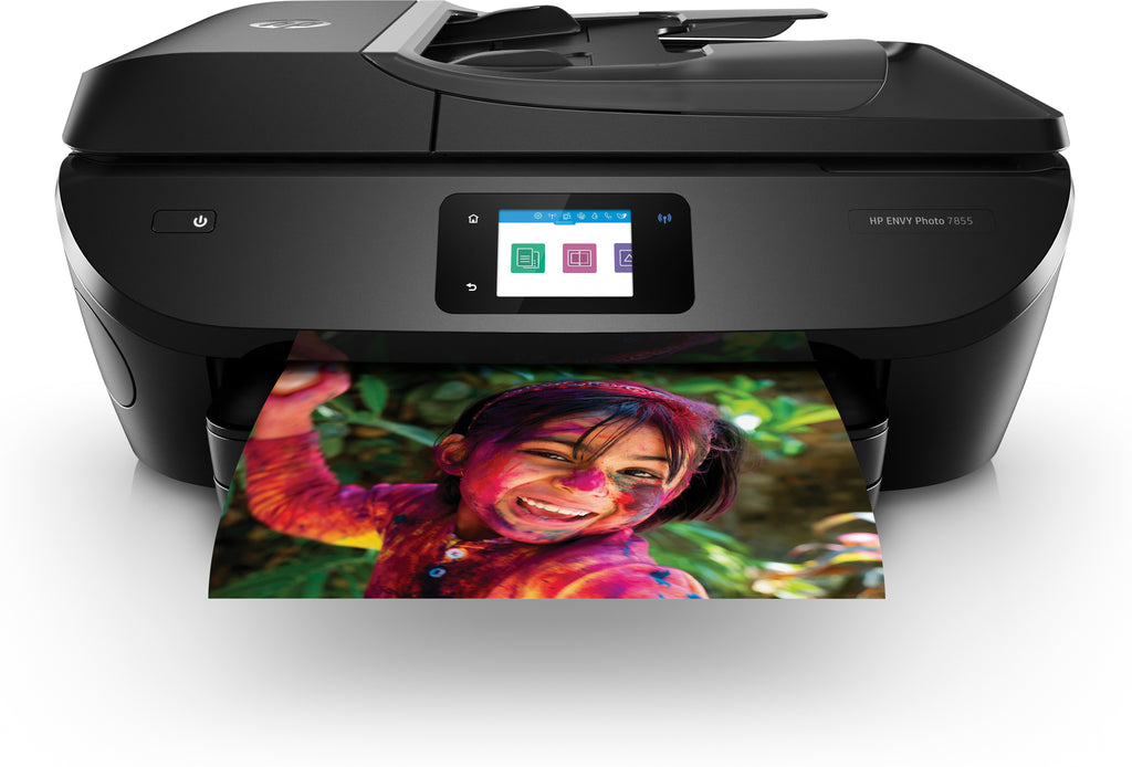 HP ENVY Photo 7855 All-in-One Color Inkjet Printer, 15 ppm Black, 10 ppm Color, 4800 x 1200 dpi, 256 MB Memory, WiFi, Ethernet, Duplex Printing - K7R96A#B1H