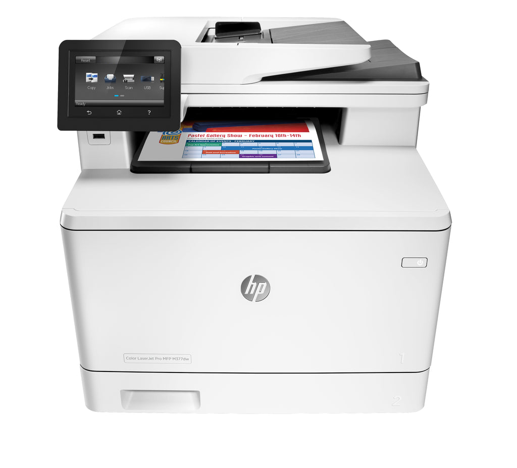 HP LaserJet Pro M377dw Multifunction Color Laser Printer, 24/24 ppm, 600 x 600 dpi, 256MB Memory, Ethernet, USB, WiFi, Duplex Printing - M5H23A#BGJ (Certified Refurbished)
