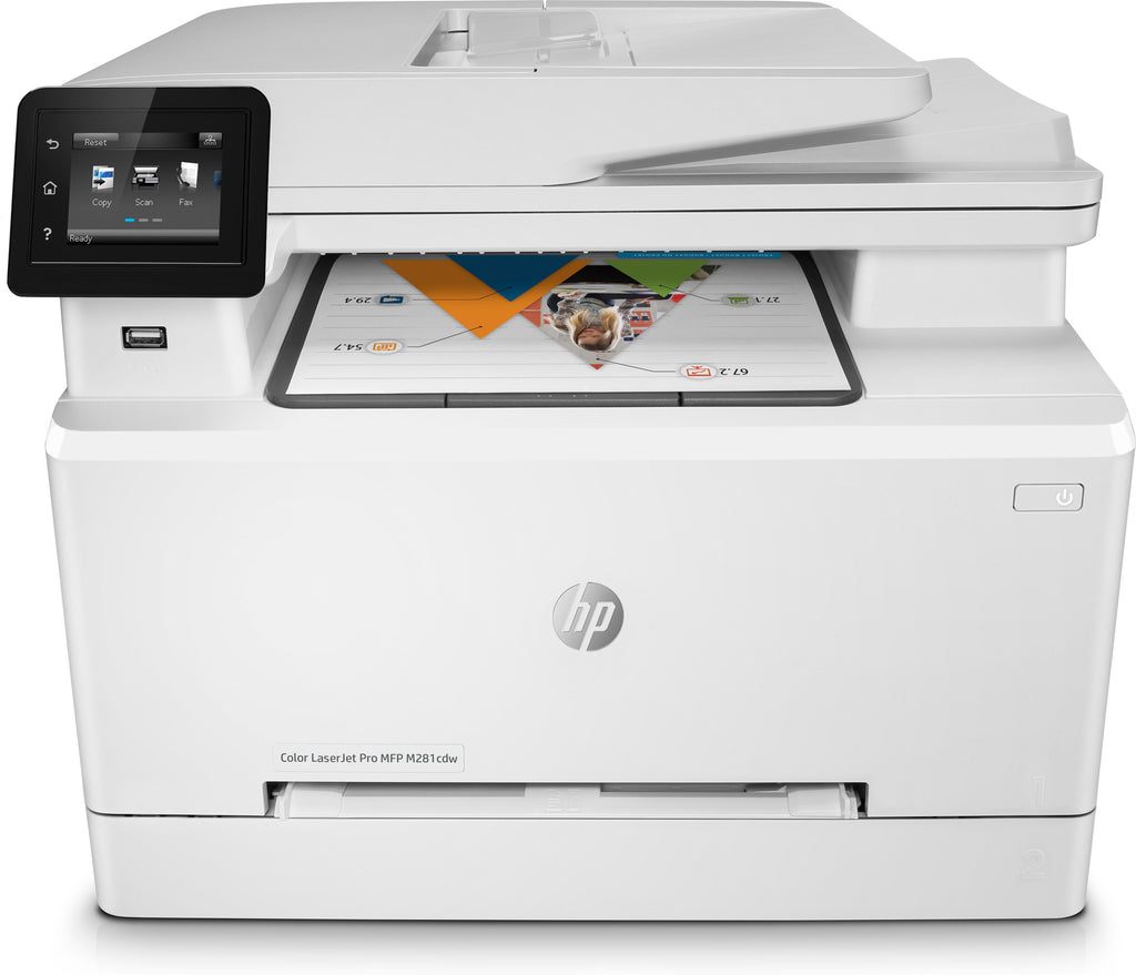 HP LaserJet Pro M281cdw All-in-One Color Laser Printer, 22 ppm, 256MB Memory, Wireless, Ethernet, USB-T6B83A#BGJ (Certified Refurbished)