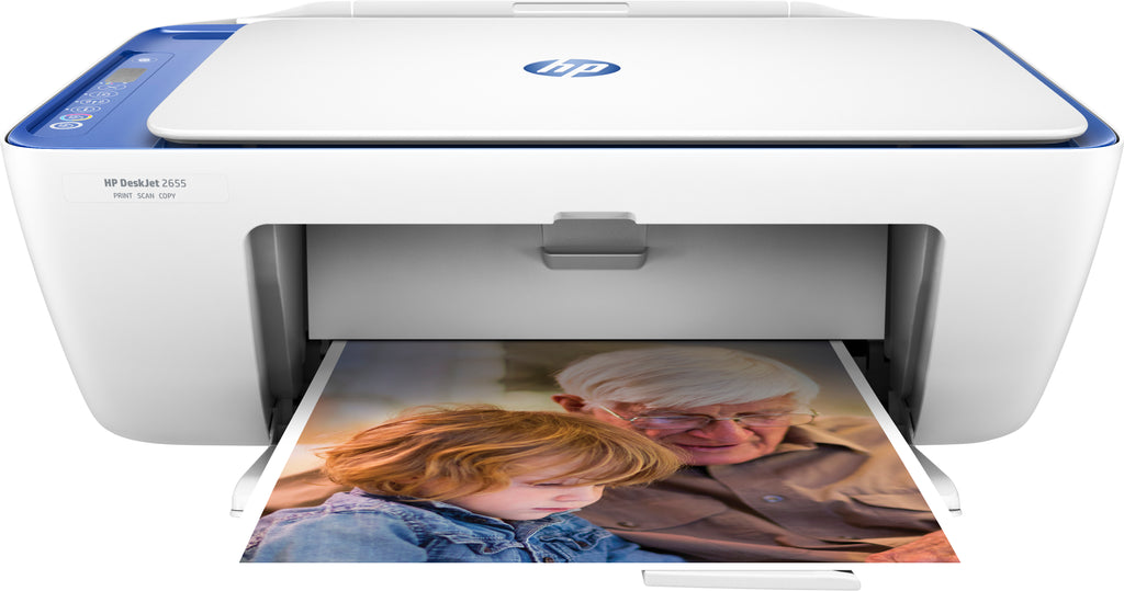 HP DeskJet 2655 All-in-One Color Inkjet Printer, 7.5 ppm Black, 5.5 ppm Color, 4800 x 1200 dpi, WiFi Support, High-speed USB 2.0, Duplex Printing- V1N01A#B1H