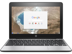 "HP 11-G5 11.6"" HD Chromebook, Intel Celeron N3050, 1.60GHz, 4GB RAM, 16GB eMMC, Chrome OS- X9U02UT#ABA"