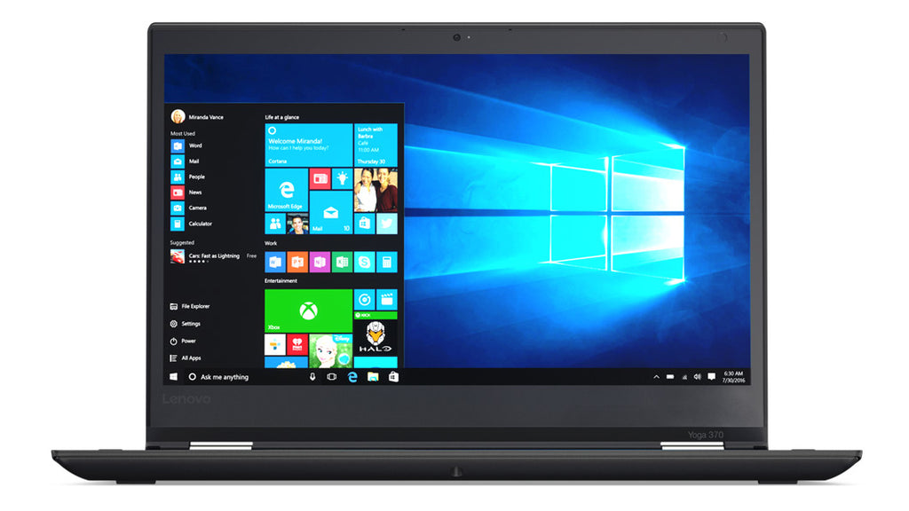 "Lenovo ThinkPad YOGA 370 13.3"" FHD (Touchscreen) Business Convertible Notebook, Intel Core i5-7300U, 2.60GHz, 8GB RAM, 256GB SSD, Windows 10 Pro 64-Bit - 20JH002AUS"