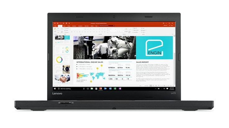 "Lenovo ThinkPad L470 Business Notebook, 14.0"" HD, Intel i5, 2.40GHz, 8GB RAM, 256GB SSD, Windows 10 Pro 64-Bit- 20JUS09U00"