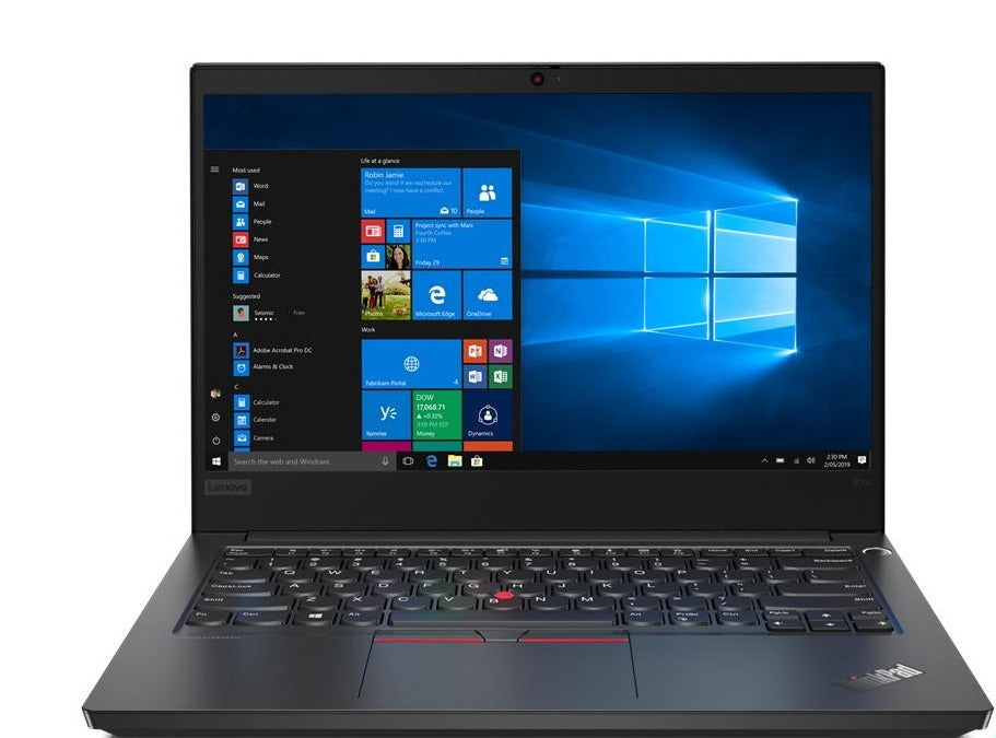 "Lenovo ThinkPad E14 14"" FHD Notebook, Intel i5-10210U, 1.60GHz, 8GB RAM, 256GB SSD, Win10P - 20RA004YUS"