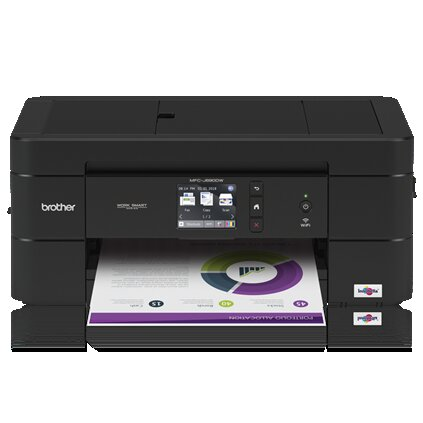 Brother MFC Inkjet All-in-One Color Printer, 128MB Memory, Wireless, Color Touchscreen LCD Display - MFC-J690DW