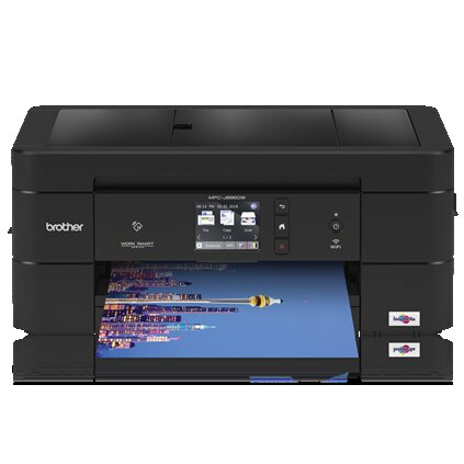 Brother MFC Inkjet All-in-One Color Printer, 128MB Memory, Wireless, Ethernet, Color Touchscreen LCD Display - MFC-J895DW