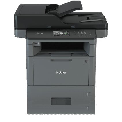 Brother MFC Monochrome Laser All-in-One Printer, 256MB Memory, Wireless, Ethernet, Color Touchscreen Display - MFC-L5800DW