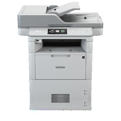 Brother MFC Monochrome Laser All-in-One Printer, 512MB Memory, Wireless, Ethernet, Color Touchscreen Display - MFC-L6750DW