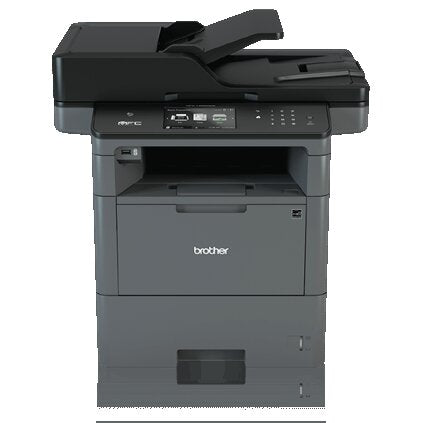 Brother MFC Monochrome Laser All-in-One Printer, 512MB Memory, Wireless, Ethernet, Color Touchscreen Display - MFC-L6800DW