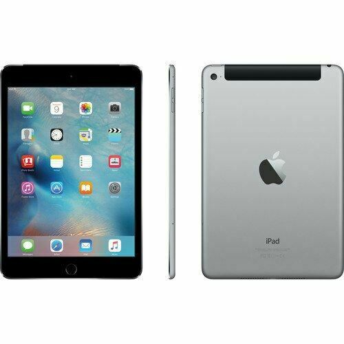 "Apple iPad Mini 4 Tablet, 4G LTE, 7.9"" Multi Touch Retina Display (2048X1536), Apple A8, 128GB SSD, Gray- MK7T2LL/A"