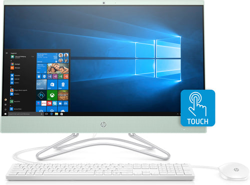 "HP 24-f0027sm All-in-One Desktop PC, 23.8"" FHD  (Touchscreen) Display, Intel Pentium Silver J5005, 1.50GHz, 8GB RAM, 1TB HDD, Windows 10 Home 64-Bit, serenity Mint- 3LC34AA#ABA"