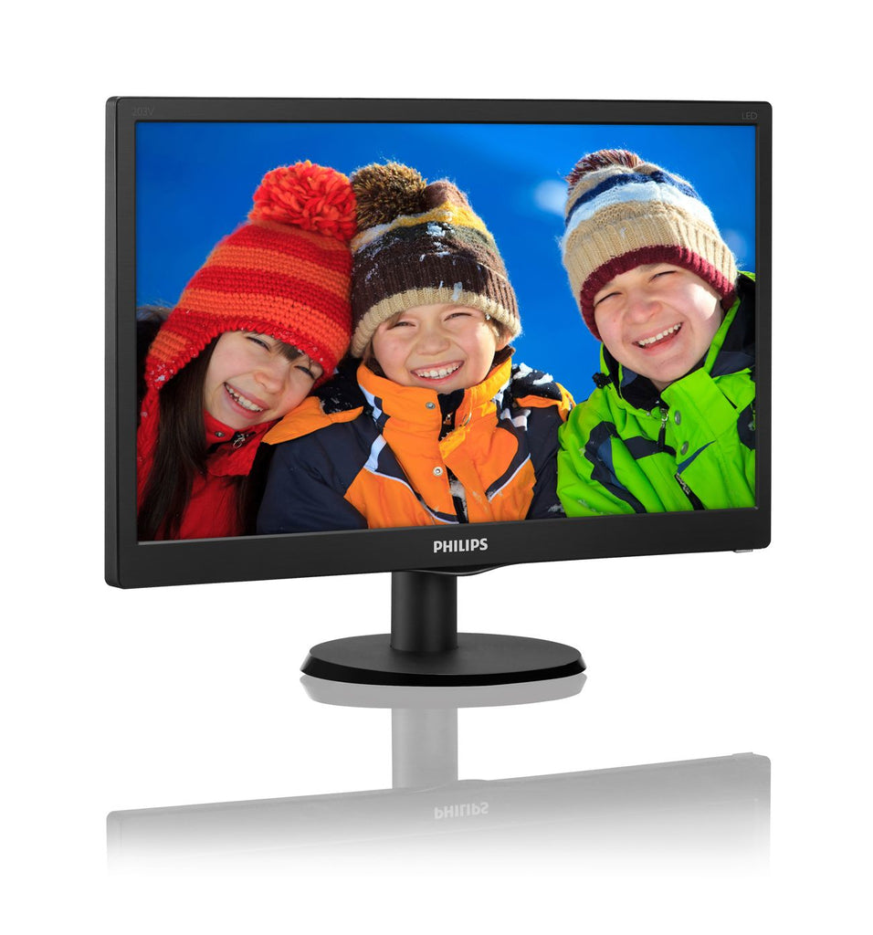 "Philips 19.5"" HD LCD Computer Monitor, Black - 203V5LSB2-B-R (Certified Refurbished)"