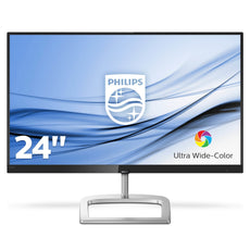 "Philips 23.8"" Full HD Computer Monitor, IPS LED Display, 16:9, 4ms, 20M:1-Contrast, 75Hz, Black/Silver - 246E9QDSB-B"