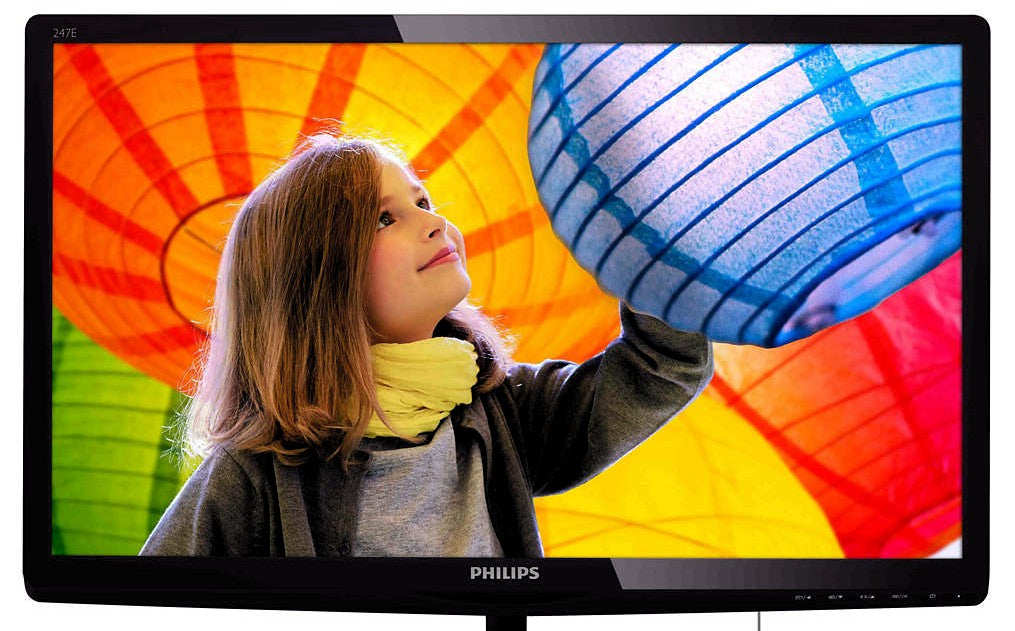 "Philips 23.6"" Full HD LCD Computer Monitor With Tilt Adjustment, Black - 247E6QDSD-B-R"