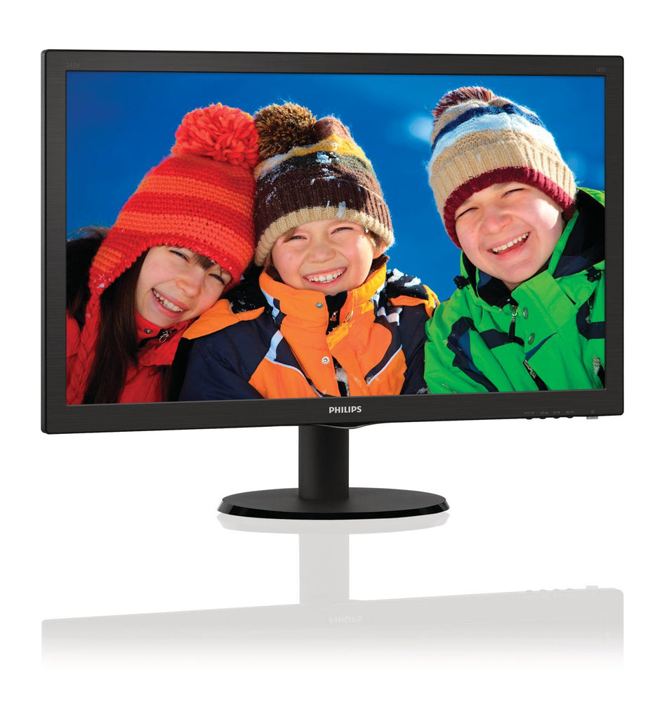 "Philips 21.5"" Full HD LCD Computer Monitor, LED Display, Black - 223V5LSB-B-R"