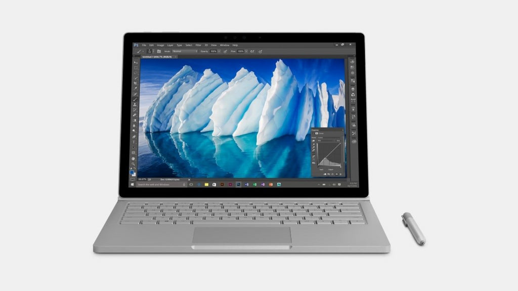 "Microsoft 13.5"" PixelSense (Touchscreen) Detachable Surface Book with Performance Base, Intel Core i7-6600U, 2.60Ghz, 16GB RAM, 1TB SSD, Windows 10 Pro-64Bit, Silver- FMT-00001"