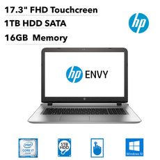 "HP Envy 17-s143cl 17.3"" FHD (Touchscreen) Notebook, Intel Core i7, 2.70GHz, 16GB RAM, 1TB SATA, Windows 10 Home 64-Bit- X0S43UA#ABA"