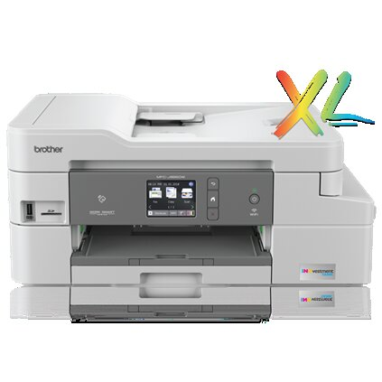 Brother MFC-J995dw XL INKvestment Tank Color Inkjet All-in-One Printer, 128MB Memory, Wireless, Ethernet, Color Touch LCD Display, 2-Year of Ink In-box - MFC-J995dw XL