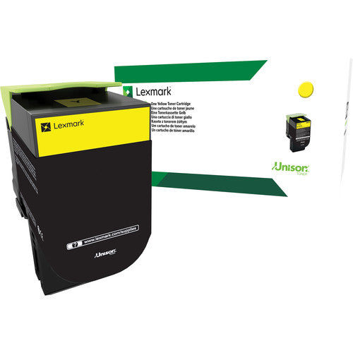 Lexmark 701HY Yellow High Yield Return Program Toner Cartridge, 3000 Pages Yield - 70C1HY0