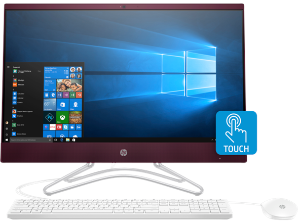 HP 24-f0027mb 23.8 Full HD (Touchscreen) All-in-One Computer, Intel Pentium Silver J5005, 1.50GHz, 8GB RAM, 1TB SATA, Windows 10 Home 64-Bit - 3LC36AA#ABA (Certified Refurbished)