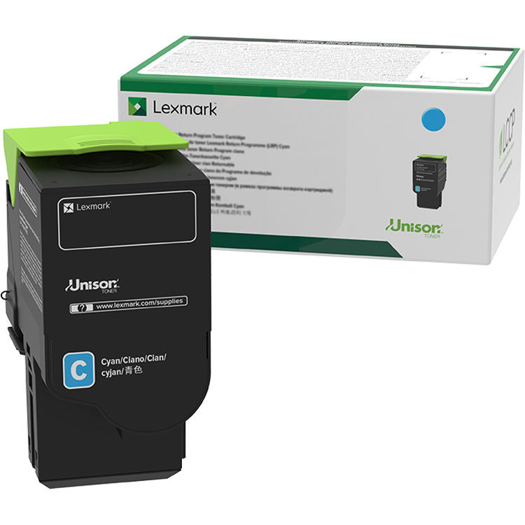 Lexmark Cyan Return Program Toner Cartridge, 1000 Pages Yield - C2310C0