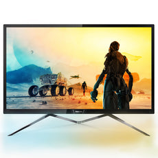 "Philips 31.5"" Quad HD LCD Computer Monitor, IPS LED Display, 16:9, 5ms, 50M:1-Contrast, 60Hz, Black/Silver- 326M6FJSB-B"