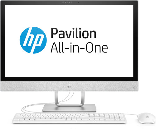"HP Pavilion 24-r149 All-in-One PC, 23.8"" FHD (Touchscreen) Display, AMD Ryzen 5, 2.00Ghz, 8GB RAM, 1TB HDD + 128GB SSD, Windows 10 Home 64-Bit, Blizzard White - 3LA39AA#ABL"
