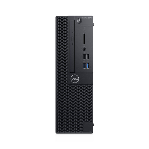 Dell OptiPlex 3070 SFF Desktop PC, Intel i5-9500, 3.0GHz, 8GB RAM, 256GB SSD, Win10P - CPJT9 (Refurbished)