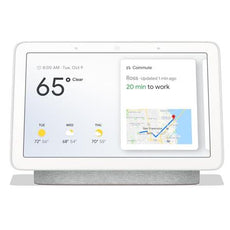 "Google Home Hub with Smart Home Assistant, 7"" LCD Touchscreen, WiFi, Bluetooth, Chalk - GA00516-US"