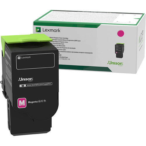 Lexmark Magenta Extra High Yield Return Program Toner Cartridge, 5000 Pages Yield - 78C1XM0